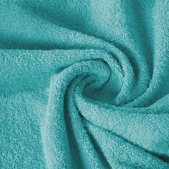 Ręcznik z bawełny gładki turkusowy 70x140cm - 70x140