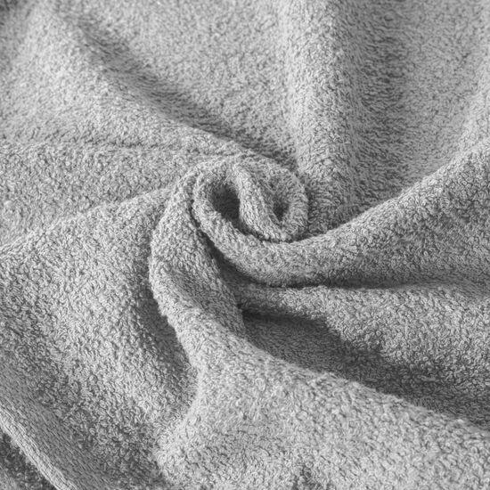 Ręcznik z bawełny gładki srebrny 50x90cm - 50x90