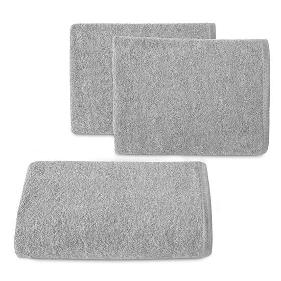 Gładki ręcznik kąpielowy srebrny 70x140 cm - 70 X 140 cm