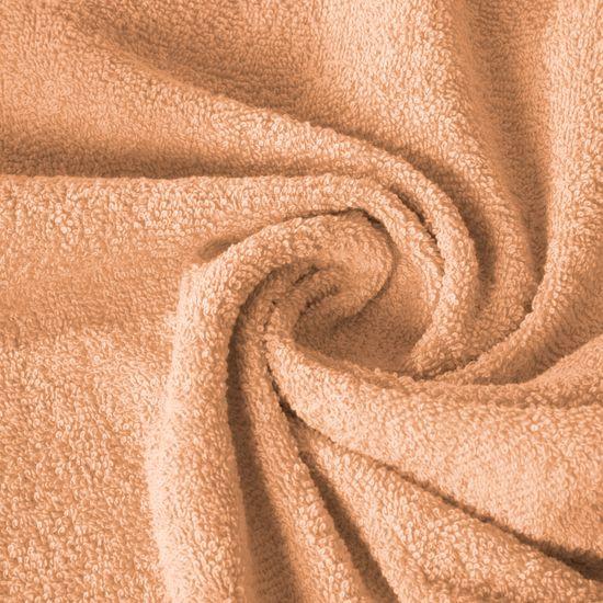 Ręcznik z bawełny gładki morelowy 50x90cm - 50x90