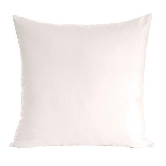 Poszewka na poduszkę biała gładka 40 x 40 cm  - 40x40
