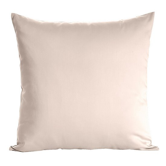 Poszewka na poduszkę beżowa gładka 40 x 40 cm  - 40x40