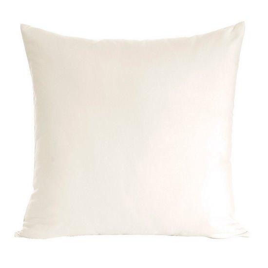 Poszewka na poduszkę kremowa gładka 40 x 40 cm  - 40x40