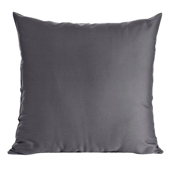 Poszewka na poduszkę stalowa gładka 40 x 40 cm  - 40 X 40 cm - stalowy
