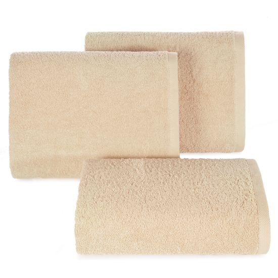 Gładki ręcznik kąpielowy beżowy 70x140 cm - 70 X 140 cm - beżowy