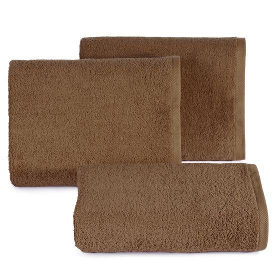 Gładki ręcznik kąpielowy brązowy 50x90 cm - 50 X 90 cm