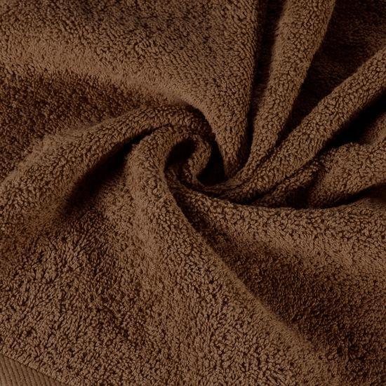 Gładki ręcznik kąpielowy brązowy 50x90 cm - 50 X 90 cm - brązowy