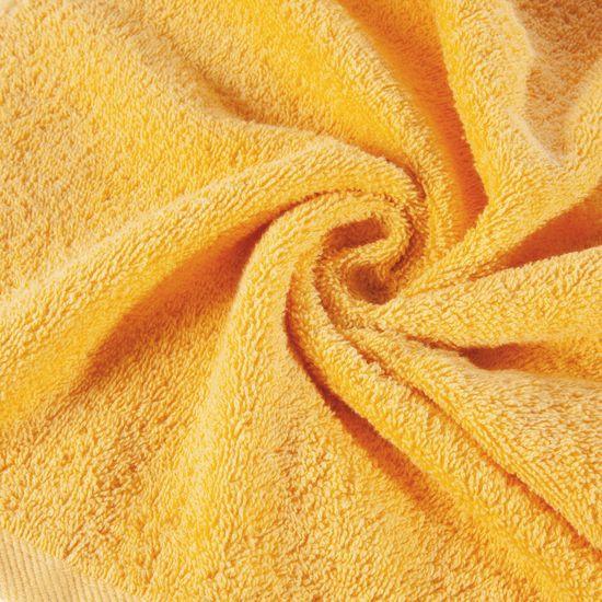 Ręcznik bawełniany gładki żółty 50x90cm - 50x90