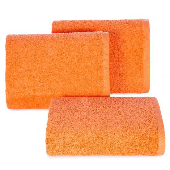Ręcznik bawełniany gładki pomarańczowy 50x90 cm - 50 X 90 cm