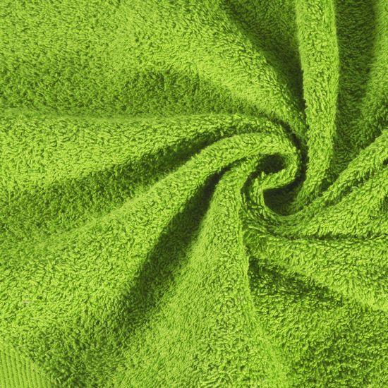 Ręcznik bawełniany gładki zielony 50x90 cm - 50x90