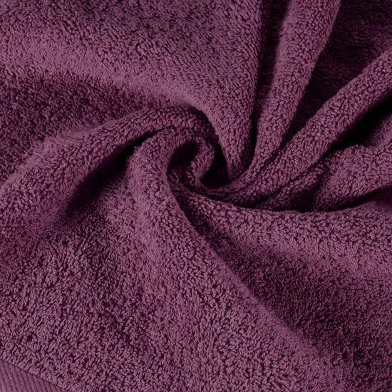 Ręcznik bawełniany gładki śliwkowy 50x90 cm - 50x90