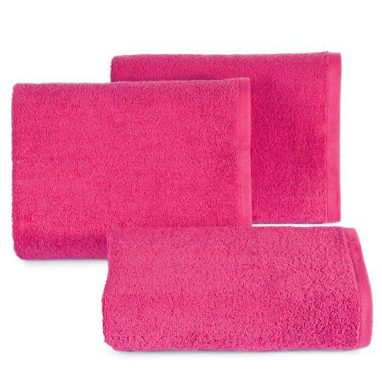 Ręcznik bawełniany gładki różowy 50x90 cm - 50 X 90 cm