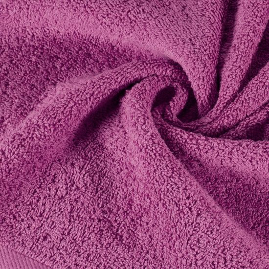 Ręcznik bawełniany gładki liliowy 70x140 cm - 70x140