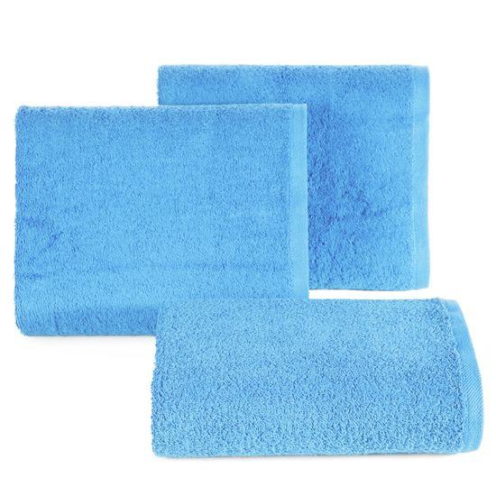 Ręcznik bawełniany gładki niebieski 50x90 cm - 50 X 90 cm