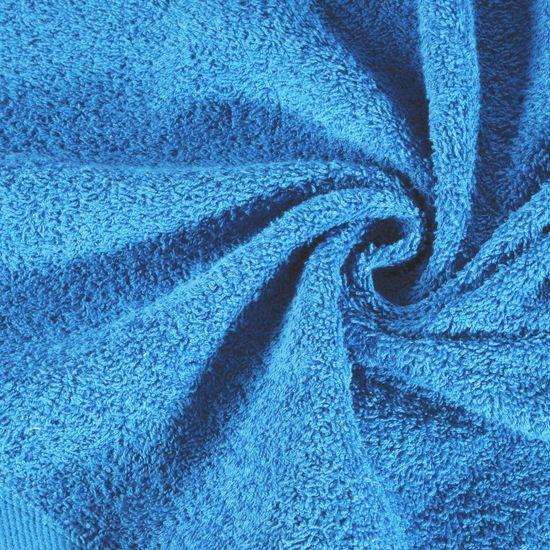 Ręcznik bawełniany gładki niebieski 50x90 cm - 50x90