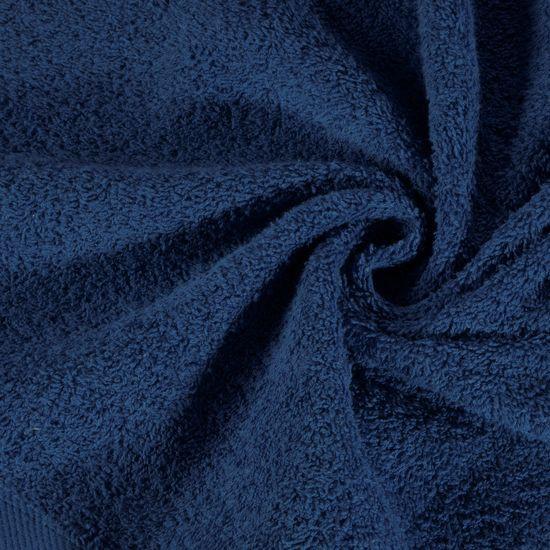 Ręcznik z bawełny gładki chabrowy 50x90 cm - 50x90