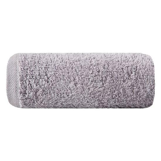 Gładki ręcznik kąpielowy srebrny 50x90 cm - 50 X 90 cm - srebrny