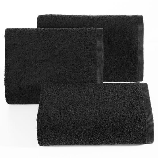 Ręcznik bawełniany gładki czarny 50x90 cm - 50 X 90 cm - czarny