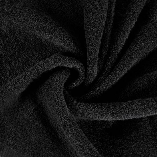 Gładki RĘCZNIK KĄPIELOWY czarny 50x90 cm - 50x90