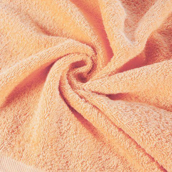 Ręcznik z bawełny gładki morelowy 50x90cm - 50 X 90 cm