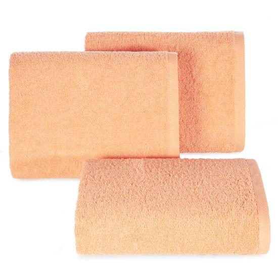 Gładki ręcznik kąpielowy morelowy 70x140 cm - 70 X 140 cm - pomarańczowy