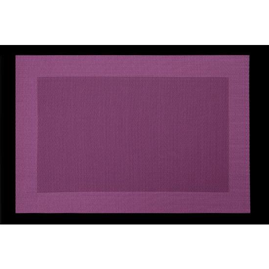 Fioletowa mata stołowa struktura tkaniny 30x45 cm - 30 X 45 cm - fioletowy