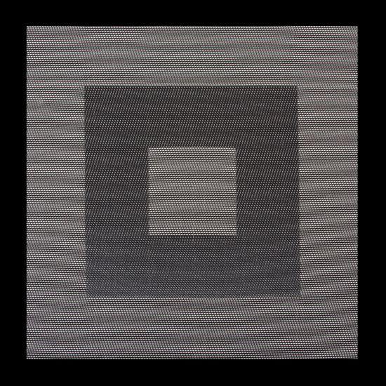 Kwadratowa podkładka stołowa czarna 35x35 cm - 35 X 35 cm - czarny/szary