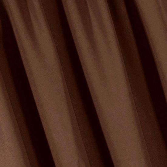 Brązowa MATOWA ZASŁONA na przelotkach 140x250 cm - 140x250