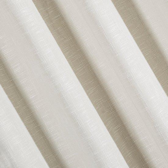 Klasyczna zasłona z melanżu na przelotkach 140x250 cm kremowa - 140 X 250 cm