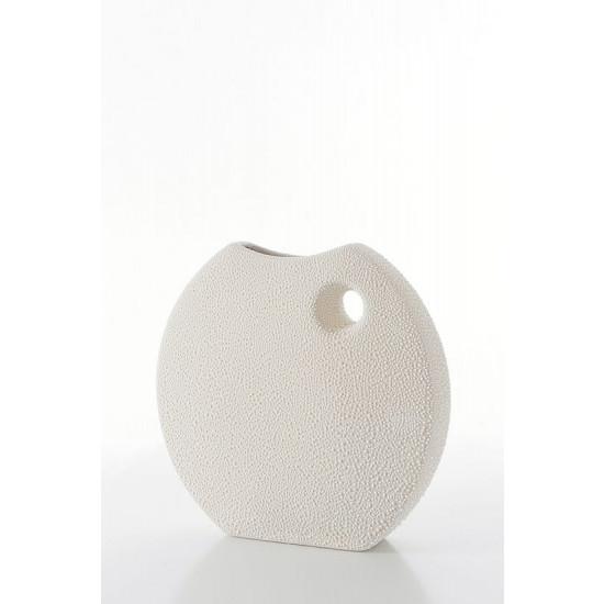 Wazon ceramiczny o płaskim kształcie 27 - 27 X 7 X 27 cm
