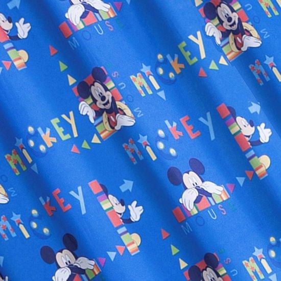 Niebieska zasłona dziecięca motyw myszki mickey 140x245 przelotki - 140 X 250 cm