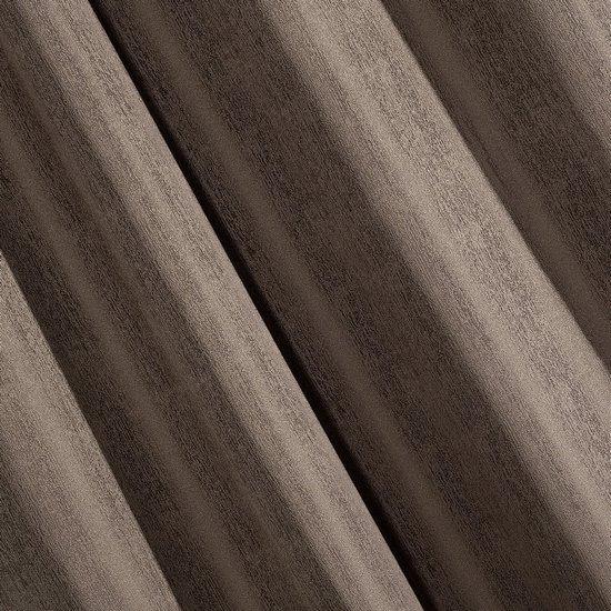 Zasłona subtelny marmurkowy wzór brązowa 140x250cm - 140 X 250 cm