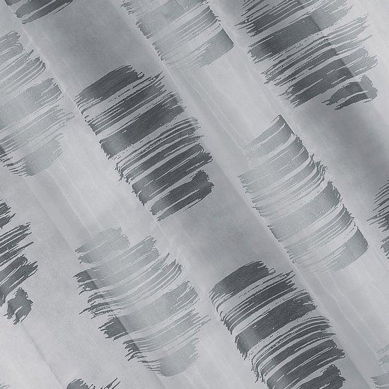 Zasłona cieniowane koła odcienie szrości przelotki 140x250cm - 140 X 250 cm - stalowy