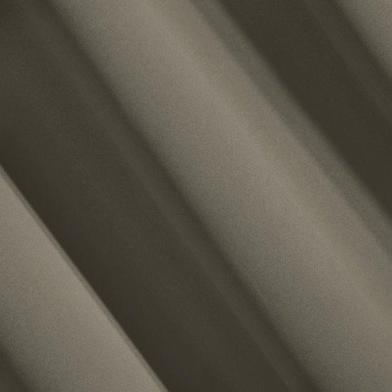 LOGAN GŁADKA MATOWA CAPPUCCINO ZASŁONA ZACIEMNIAJĄCA BLACKOUT 135x250 cm NA PRZELOTKACH - 140 X 250 cm