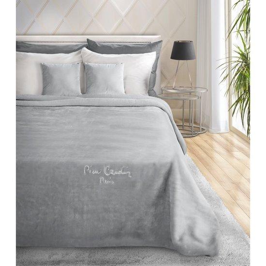 Srebrny EKSKLUZYWNY KOC Clara od PIERRE CARDIN 160x240 cm z akrylem - 160 X 240 cm