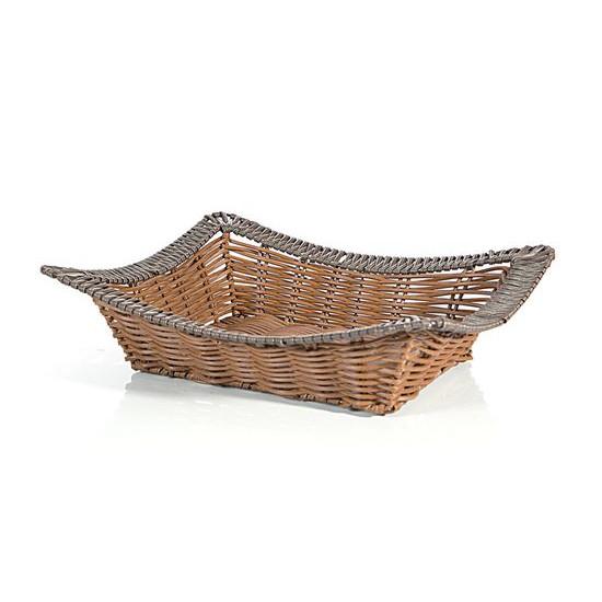 Koszyk dekoracyjny 37 x 31 x 7 cm brązowy - 37 X 31 X 7 cm