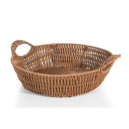 Koszyk dekoracyjny 32 x 10 cm brązowy - ∅ 32 X 10 cm
