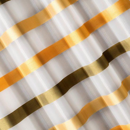 Zasłona półprzejrzysta na przelotkach 140x250 cm - 140x250 - kremowy, pomarańczowy
