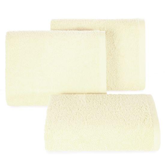 Gładki ręcznik kąpielowy kremowy 100x150 cm - 100 X 150 cm - kremowy