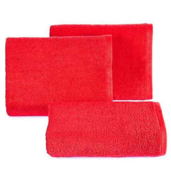 Gładki ręcznik kąpielowy czerwony 100x150 cm - 100 X 150 cm - czerwony