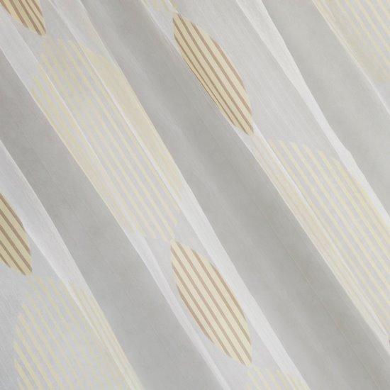 Kremowa delikatna zasłona w bezowy wzór na taśmie 140x250 cm - 140 X 250 cm