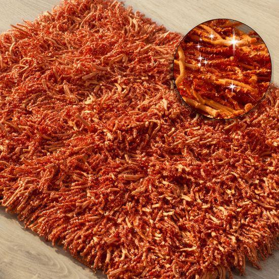 Dywanik z sznurkowym włosiem miękki pomarańczowy 50x70cm - 50 X 70 cm