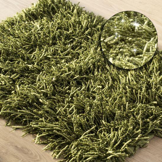 Dywanik z sznurkowym włosiem miękki zielony 50x70cm - 50 X 70 cm - zielony