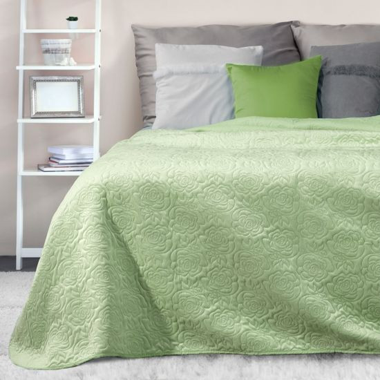 Narzuta melanie zielona pikowana 220x240 cm - 220 X 240 cm - zielony