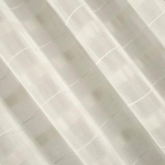 Klasyczna kremowa firana pasy 140x250 na przelotkach - 140x250