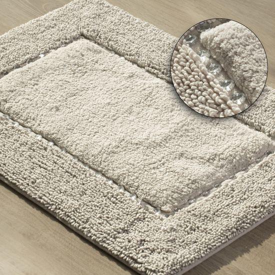Miękki dywanik łazienkowy z kryształami beżowy 50x70 cm - 50 X 70 cm