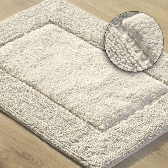 Miękki dywanik łazienkowy z kryształami kremowy 50x70 cm - 50 X 70 cm