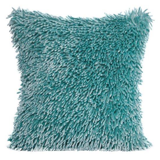 Poszewka na poduszkę włosie shaggy miętowa 40 x 40 cm  - 40x40