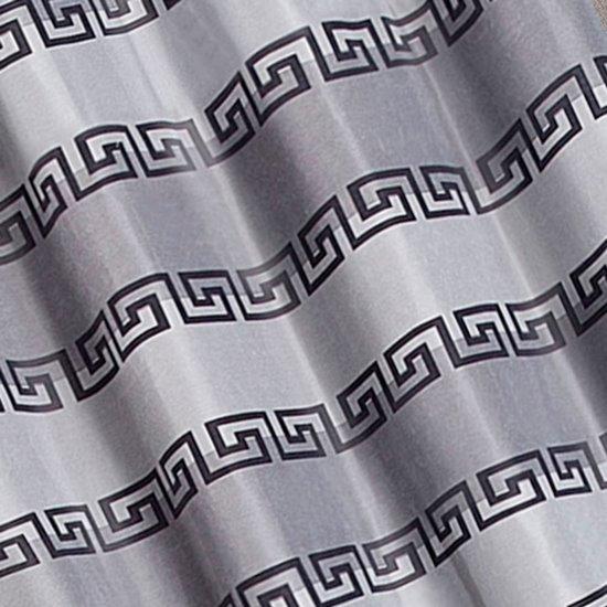 Szara zasłona w grecką falę na taśmie tunel 140x250 cm - 140x250 - stalowy, srebrny, szary