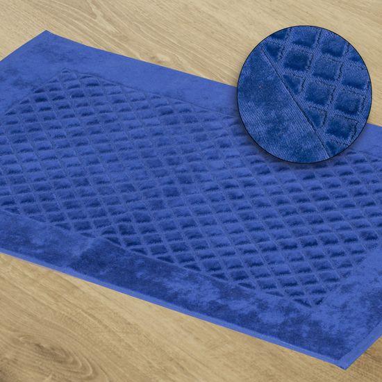 Dywanik bawełna chabrowy 60 x 90 cm - 60 X 90 cm - ciemnoniebieski